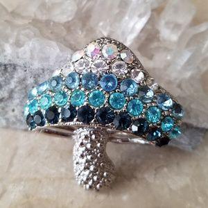 Jewelry - Turquoise Mushroom Rhinestones Brooch